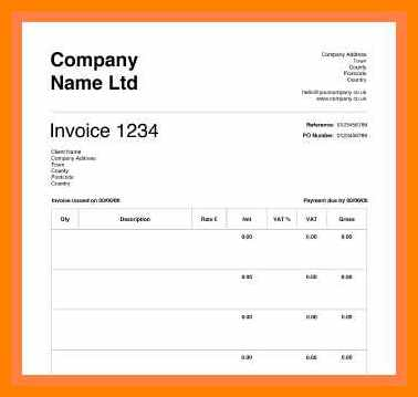 83 Blank Cis Vat Invoice Template in Photoshop with Cis Vat Invoice Template
