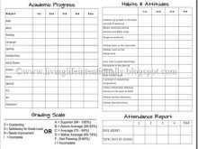 83 Blank Free Printable Homeschool Report Card Template in Photoshop by Free Printable Homeschool Report Card Template
