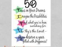 83 Create 50Th Birthday Card Template Free Layouts with 50Th Birthday Card Template Free