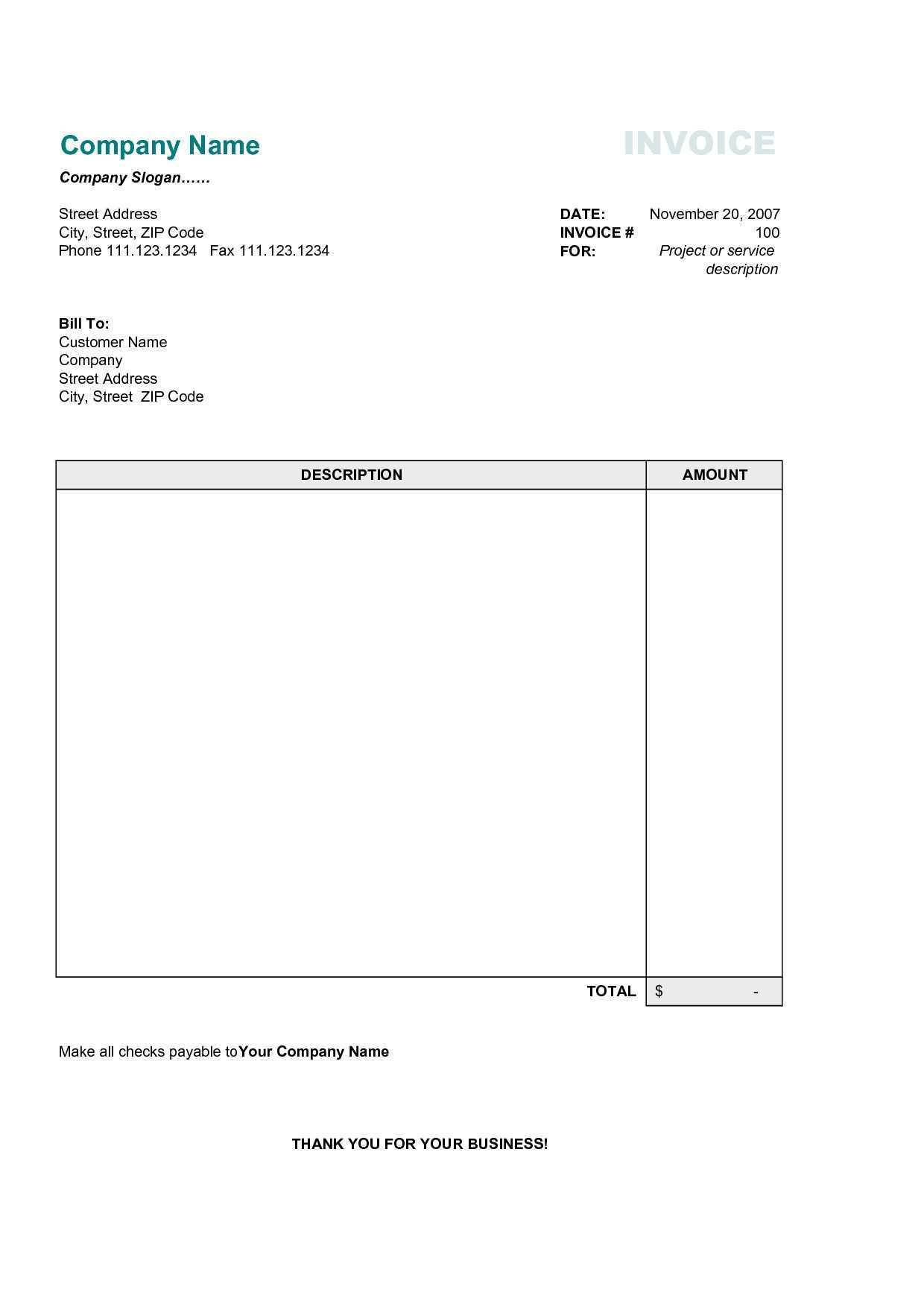 83 Create Invoice Template Simple With Stunning Design By Invoice Template Simple Cards Design Templates