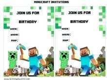 83 Create Minecraft Happy Birthday Card Template Printable Maker for Minecraft Happy Birthday Card Template Printable