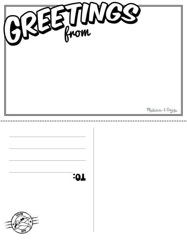 83 Create Template Of Postcard Free Printable for Ms Word for Template Of Postcard Free Printable