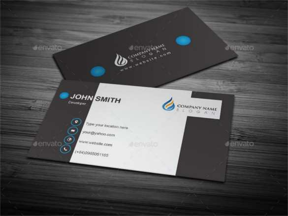 83 Creating Adobe Illustrator Name Card Template Free for Ms Word with Adobe Illustrator Name Card Template Free