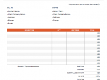 83 Creating Blank Billing Invoice Template in Word with Blank Billing Invoice Template