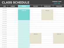 83 Creating Class Schedule Template Excel for Ms Word by Class Schedule Template Excel