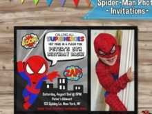 83 Creative Birthday Card Template Spiderman Templates by Birthday Card Template Spiderman