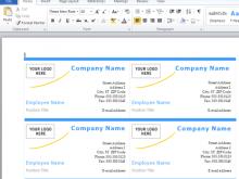 83 Creative Microsoft Name Card Templates With Stunning Design by Microsoft Name Card Templates