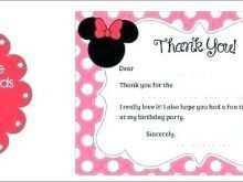 83 Customize Our Free Birthday Card Template Minnie Mouse Formating for Birthday Card Template Minnie Mouse