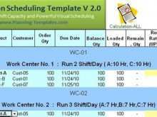 83 Format Production Schedule Template Free Download for Production Schedule Template Free