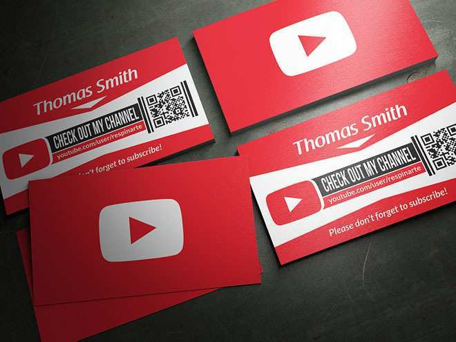 83 Free Business Card Template For Youtube in Word with Business Card Template For Youtube