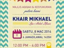 83 Free Invitation Card Aqiqah Template Now for Invitation Card Aqiqah Template