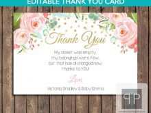 83 Printable Baby Thank You Card Template Printable Download with Baby Thank You Card Template Printable