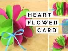 83 Printable Pop Up Flower Card Tutorial Handmade for Ms Word by Pop Up Flower Card Tutorial Handmade