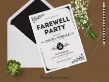 83 Report Farewell Party Invitation Card Templates Formating for Farewell Party Invitation Card Templates