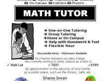 83 Report Math Tutor Flyer Template PSD File for Math Tutor Flyer Template