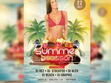 83 Visiting Beach Party Flyer Template Free Psd With Stunning Design by Beach Party Flyer Template Free Psd