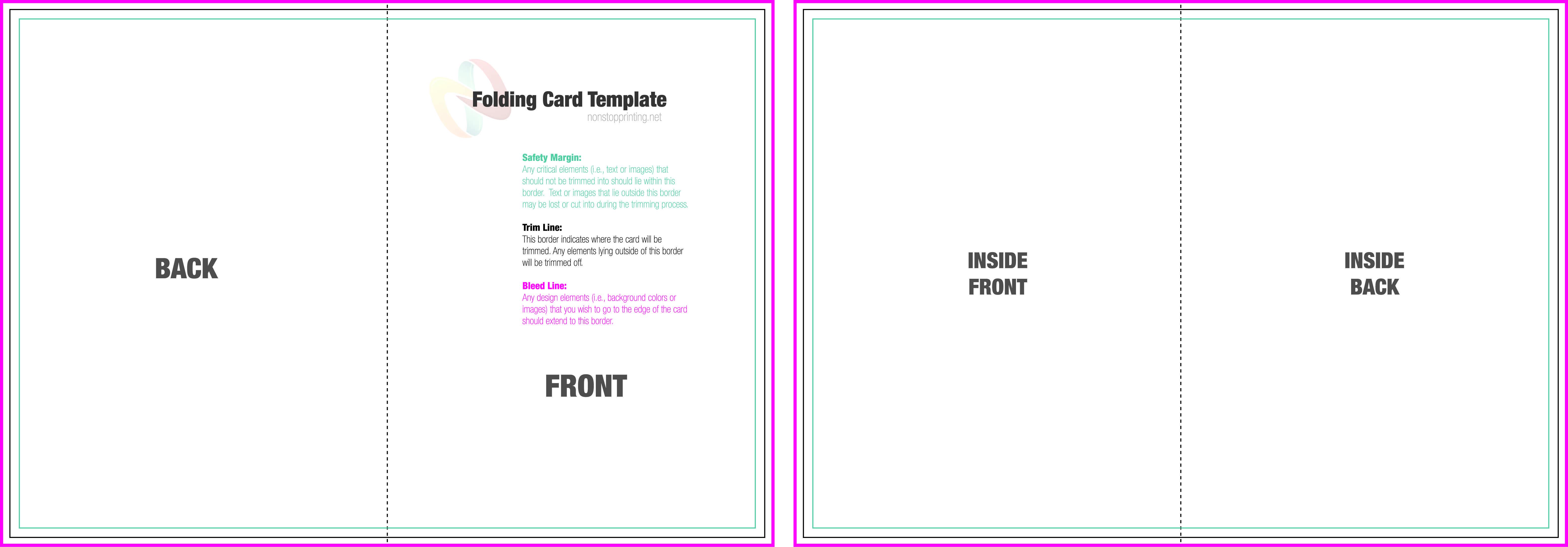 2 Fold Card Template - Cards Design Templates