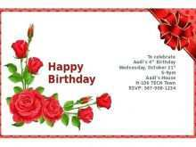 Happy Birthday Card Template For Word
