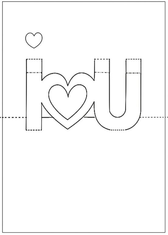 84 Blank Heart Card Template Pop Up Photo for Heart Card Template Pop Up