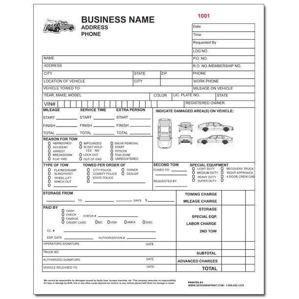 84 Creating Blank Towing Invoice Template in Word by Blank Towing Invoice Template