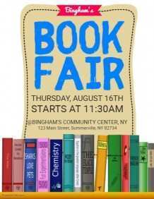 84 Customize Book Fair Flyer Template Photo by Book Fair Flyer Template
