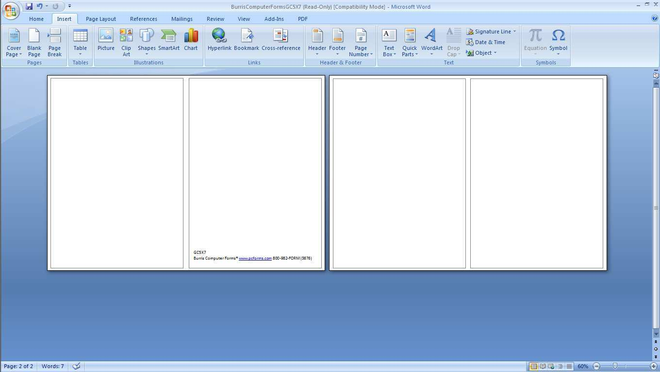 Folded Greeting Card Template Microsoft Word - Cards ...