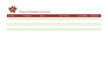 84 Free Christmas Card List Template For Mac for Ms Word by Christmas Card List Template For Mac