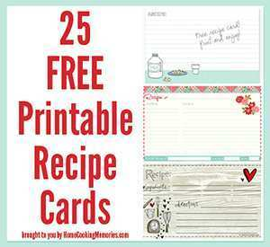 84 Free Editable Recipe Card Template Free 3X5 Now with Editable Recipe Card Template Free 3X5