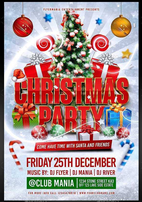 84 Free Printable Christmas Party Flyer Template Free Now with Christmas Party Flyer Template Free