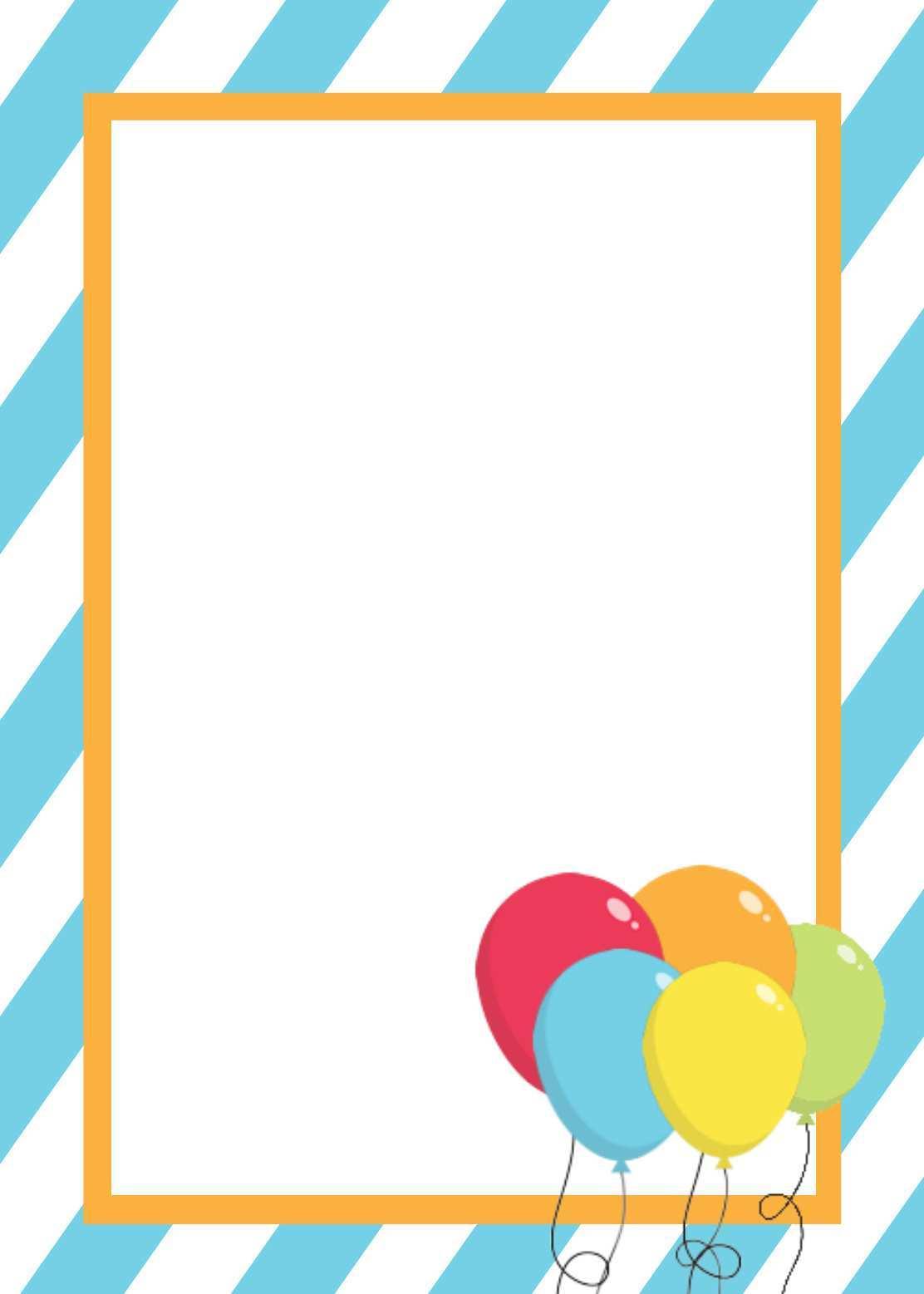 84 How To Create Kid Birthday Invitation Card Template Free Formating by  Kid Birthday Invitation Card Template Free - Cards Design Templates