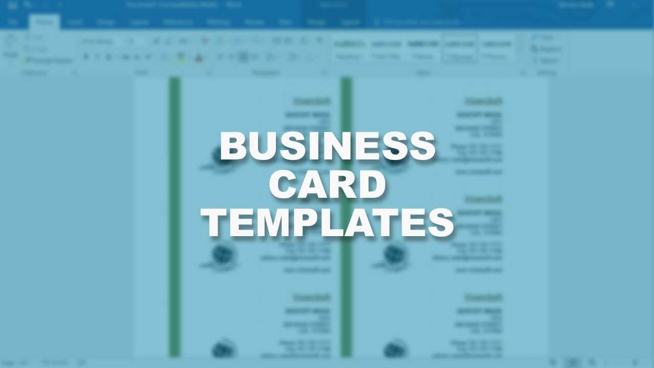 84 Online Card Template Word 2016 Layouts with Card Template Word 2016