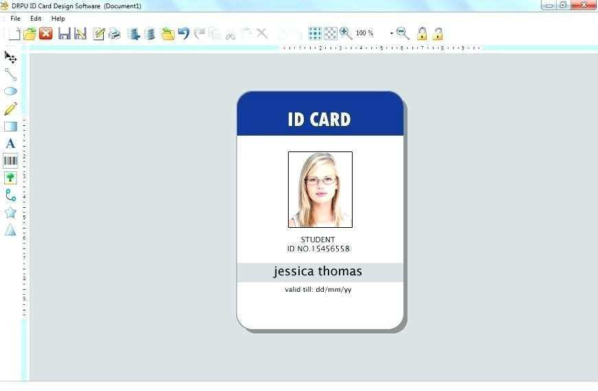 This is a photo of Printable Id Cards regarding blank