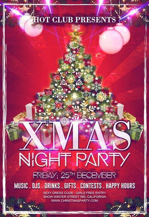 84 The Best Christmas Party Flyers Templates Free PSD File for Christmas Party Flyers Templates Free