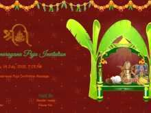 84 The Best Invitation Card Template Pooja Photo for Invitation Card Template Pooja