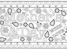 84 The Best Mother S Day Card Templates For Preschoolers Photo for Mother S Day Card Templates For Preschoolers