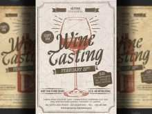 84 The Best Wine Tasting Event Flyer Template Free Photo with Wine Tasting Event Flyer Template Free