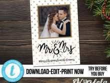 Newlywed Christmas Card Template