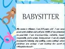 85 Creating Babysitter Flyers Template Layouts by Babysitter Flyers Template