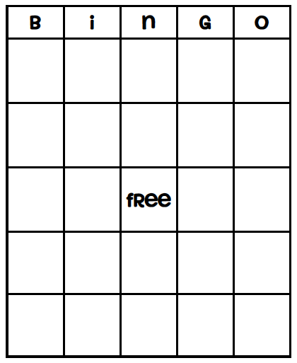 85 Creative Bingo Card Template To Print Templates by Bingo Card Template To Print