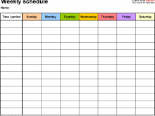 85 Free Class Schedule Template For Excel Templates with Class Schedule Template For Excel