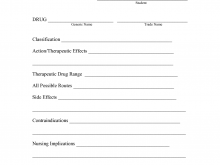 85 How To Create Drug Card Template Printable For Free for Drug Card Template Printable