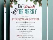 Menu Card Template Christmas