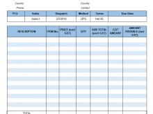 Tax Invoice Template Australia Excel