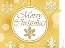 85 Online Christmas Card Template Gold Layouts by Christmas Card Template Gold