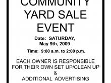 85 Online Community Garage Sale Flyer Template Templates with Community Garage Sale Flyer Template