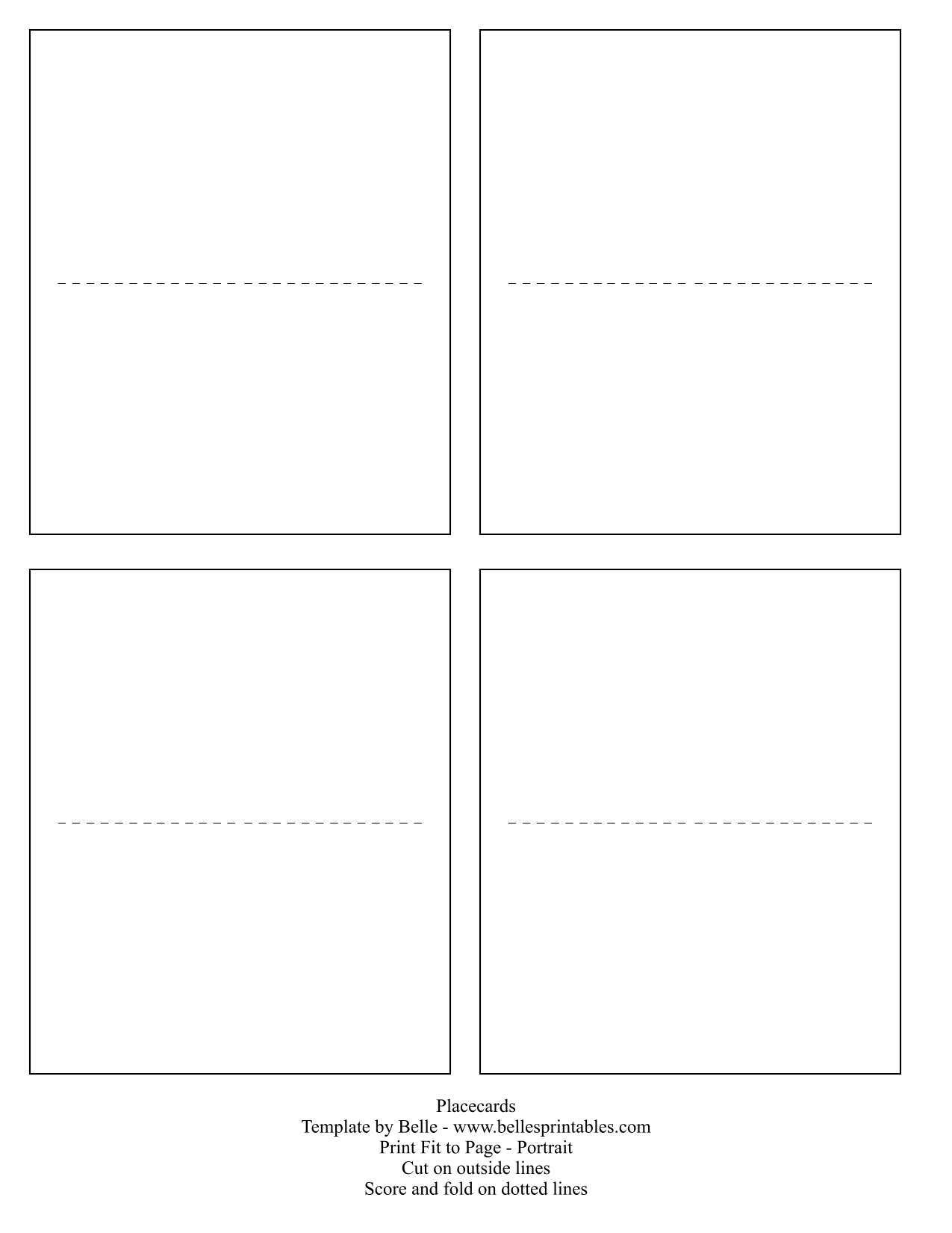 Free Blank Name Card Template - Cards Design Templates Within Template For Cards To Print Free