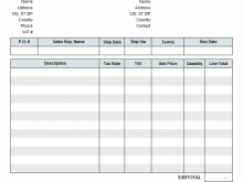 85 Report Blank Tax Invoice Format In Excel Templates with Blank Tax Invoice Format In Excel