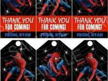 Spiderman Thank You Card Template
