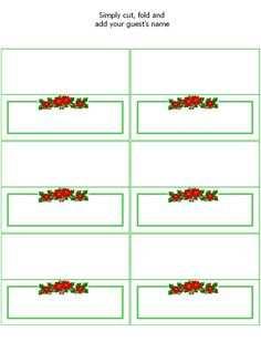 85 Standard Xmas Name Card Templates for Xmas Name Card Templates