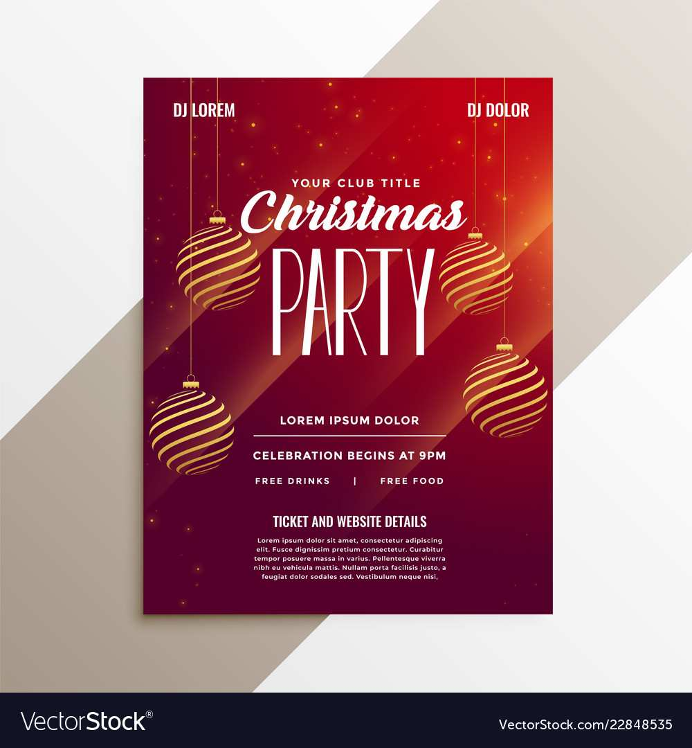85 The Best Christmas Party Flyer Templates for Ms Word with Christmas Party Flyer Templates